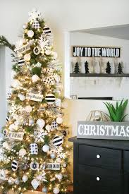 black white tree decor friday and wrapping paper