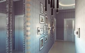 lighting ideas modern wall sconces with bright light in hallway