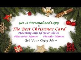 best christmas card video wishes youtube