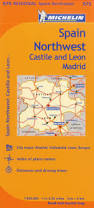 Spain Map Michelin Spain Regional Northwest Castile U0026 Leon Madrid Map