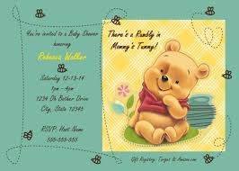 winnie the pooh baby shower invitations artfire markets
