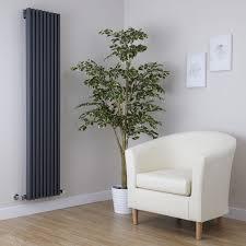 milano cayos anthracite modern vertical designer radiator 1600mm