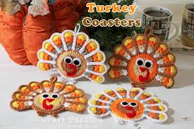 turkey coasters free crochet pattern craft