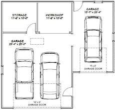 38x36 3 car garage 1 200 sqft pdf plan asheville north