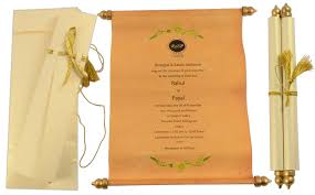 Scroll Invitation Indian Wedding Card U0027s Blog Wedding Cards Invitations