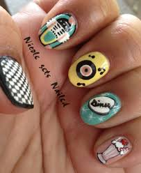 50s nail designs beautify themselves with sweet nails