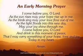 morning prayers inspirational prayers