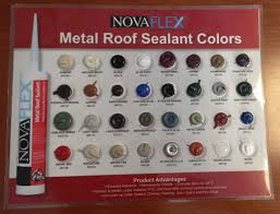 novaflex metal roof sealant standing seam roof stock colors