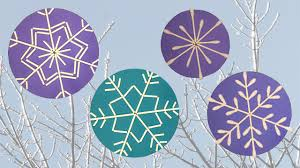 q tip snowflakes craft diy youtube