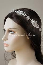 wedding headband filigree wedding headband halo circlet with rhinestones