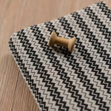 canape tissu rayures noir et blanc rayures teints polyester coton tissu courbe vague