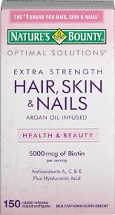 nature u0027s bounty extra strength hair skin u0026 nails vitamin world