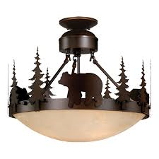 Iron Ceiling Light Rustic Light Fixtures Cabin Lighting