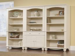 Sauder Harbor Bookcase Sauder Harbor View Bookcase With Doors Antique White American