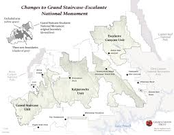 Capitol Reef National Park Map Changes To Grand Staircase Escalante National Monument Map Grand