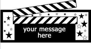 hollywood symbols theme film strip symbols camera symbols