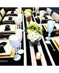 black white striped table runner black and white table runners wedding decoration black white stripe