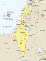 Map Of Al Political And Administrative Map Of Israel Israel Political And