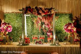 wedding backdrop on stage gorgeous indian wedding stage with green backdrop http www