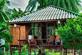 beautiful bungalows beautiful bungalow resort in jungle krabi thailand stock photo