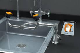 Faucet Mounted Eyewash Station Wsc Safety U0026 Emergency Equipment Wall Mounted Eyewash