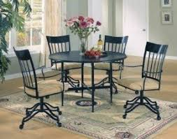 dining chairs with wheels foter