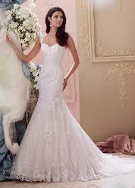 elegant lace cap sleeve fit u0026 flare wedding dress 115239 emerson