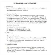 report requirements template exle business requirements document template writing business