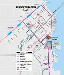 Bart Lines Map by Directions San Francisco Giants