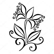 beautiful decorative flower with leaves vector u2014 stock vector