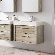 tila wall mounted bathroom vanity unit light sawn oak resin basin