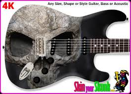 skull guitar skins wraps decals stickers
