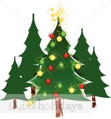 christmas tree forest clipart 11