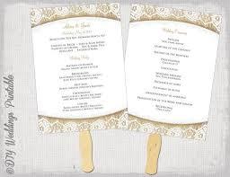 Wedding Program Fans Diy Wedding Program Fan Template Rustic