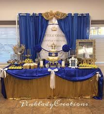 royal prince baby shower decorations 3 best blue and gold baby shower decorations blogbeen