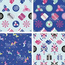 christmas vector elements set for festive design seamless