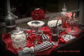 Black And White Candy Buffet Ideas by Candy Buffet Black White Red Nice Display Smaller Containers And