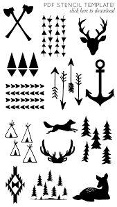 i will need these one day im sure printable arrow and antler