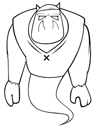 cartoon monster coloring u0026 coloring pages