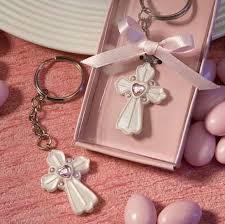 baptism keychain 100pcs new baby girl shower favors baptism christening gifts