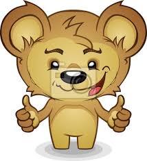 imagenes animadas oso sonreír thumbs up oso de dibujos animados carteles para la pared