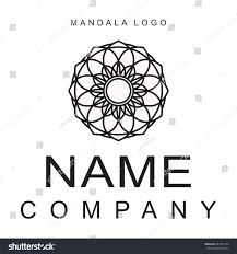 mandala logo decorative circular ornament black stock vector