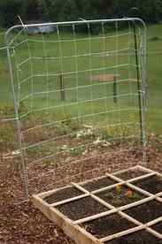 Garden Netting Trellis Square Foot Gardening How To Construct Sturdy Economical