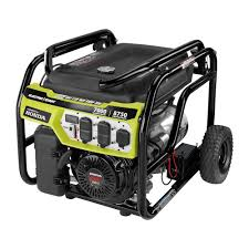 ryobi 7 000 watt gasoline powered electric start portable