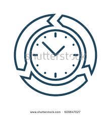 circle arrows around clock vector icon stock vector 609647027