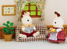 Aliexpresscom  Buy Genuine Dollhouse Furniture Miniature - Sylvanian families luxury living room set