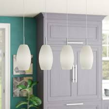 glass pendant lights for kitchen island kitchen island lighting you ll wayfair