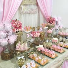 Table Shower Near Me It U0027s A Pink And Silver Baby Shower Party Ideas Baby Shower
