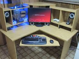 Gaming Pc Desk by Corner Gaming Computer Desk Home Design