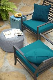 simple outdoor patio furniture cushions with colorful textures